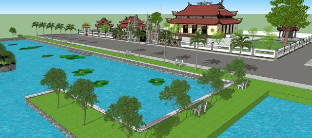 Dự án kè hồ trước Đình làng Cao Lao Hạ