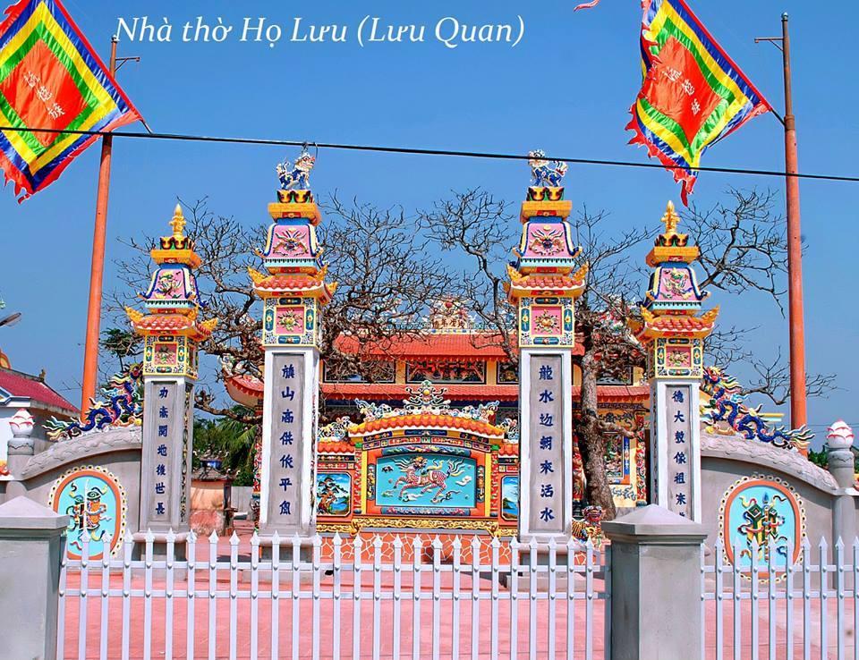 Giấy mời dự lễ khánh thành nhà thờ họ Lưu Quan làng Cao Lao Hạ