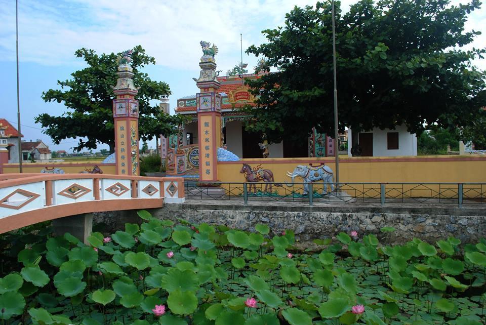 Ao sen trước nhà thờ họ Nguyễn