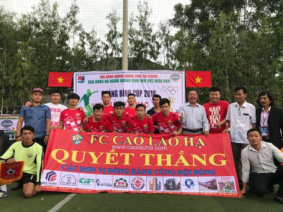 FC Cao Lao Hạ tham gia giải bóng đá cúp Quảng Bình 2019