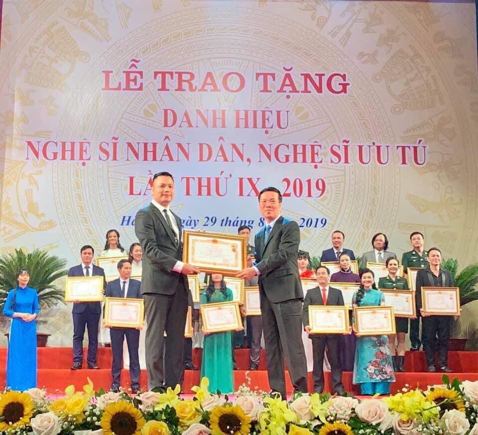 Nguyễn Hoàng Anh được tặng danh hiệu Nghệ sỹ Ưu tú
