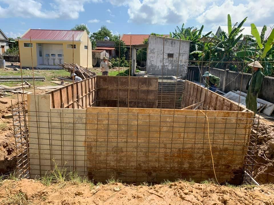 Xây dựng bể nước trường Tiểu học Hạ Trạch