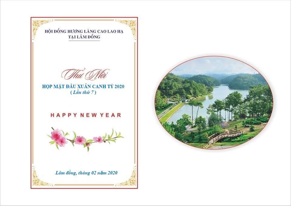 Thư mời bà con Hạ Trạch tại Lâm Đồng họp mặt đầu năm
