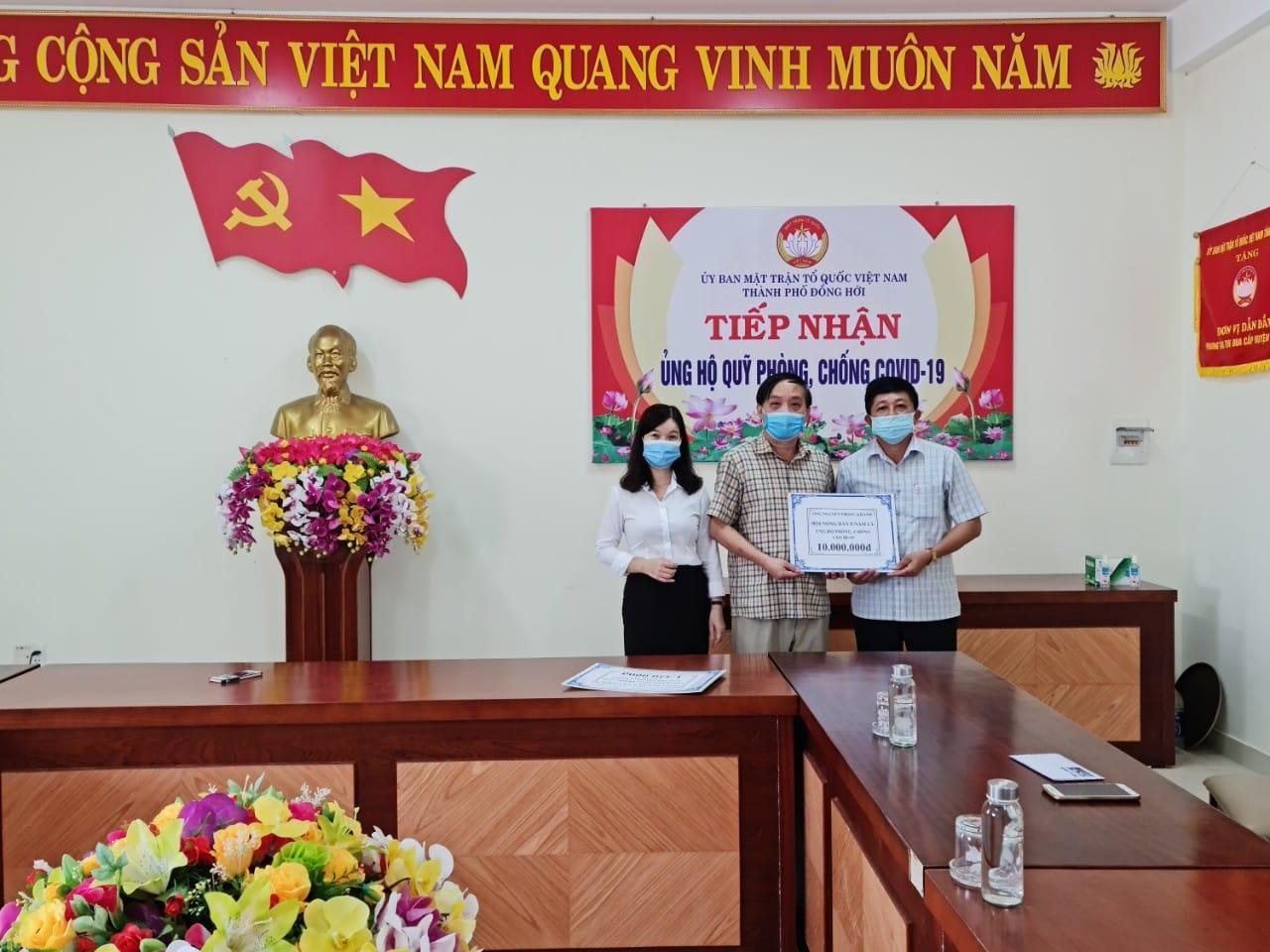 Công ty TNHH Khánh Huy ủng hộ Quỹ vắc-xin phòng, chống Covid-19