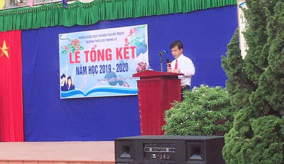 Thư của thầy Hiệu trường trường THCS Lưu Trọng Lư